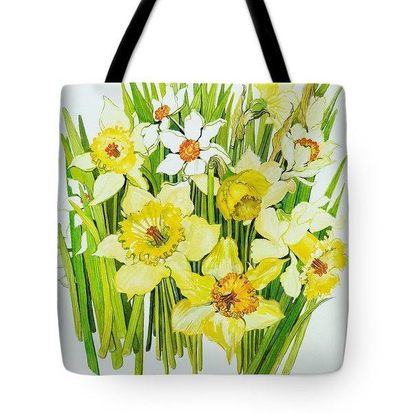 Daffodils And Narcissus Tote Bag by Joan Thewsey