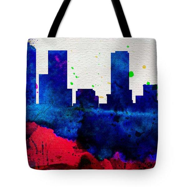 Denver City Skyline Tote Bag
