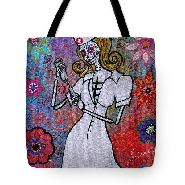 Dia De Los Muertos Nurse Tote Bag