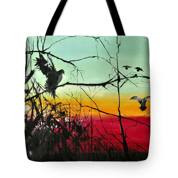 Doves At The Dawn Tote Bag