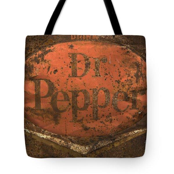 Dr Pepper Vintage Sign Tote Bag