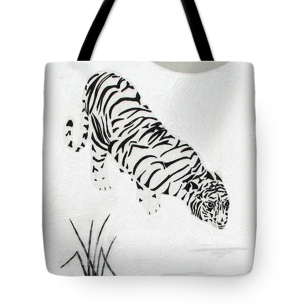 Tote Bag featuring the painting  Drinking By Moonlight by Stephanie Grant
