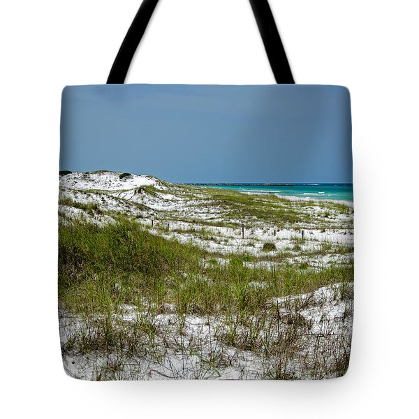 Tote Bag featuring the photograph  Dunes    Panama City Beach  by Susan  McMenamin