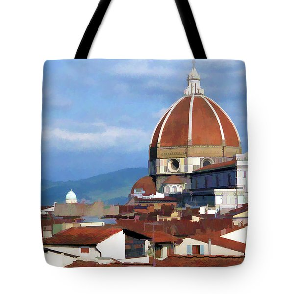 Tote Bag featuring the photograph  Duomo Of Florence # 3 by Allen Beatty