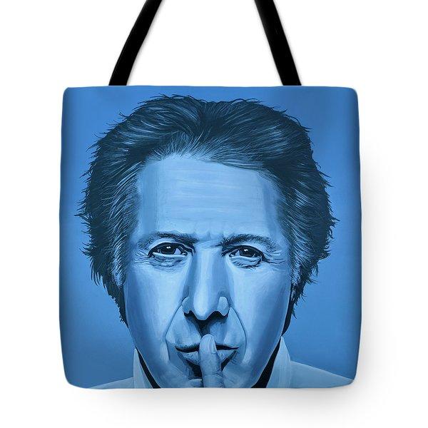 Dustin Hoffman Painting Tote Bag