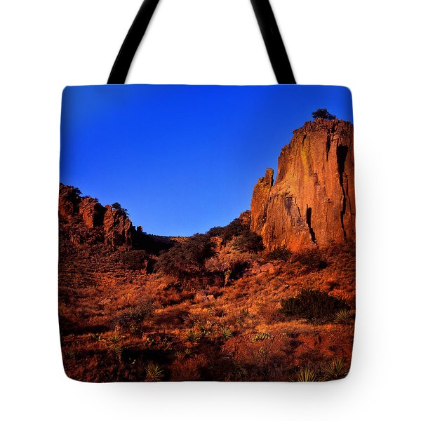 Early Morning On The Chihuahuan Desert Tote Bag