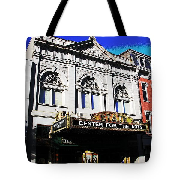 Easton Pa State Theater Center For The Arts Tote Bag by Jacqueline M Lewis