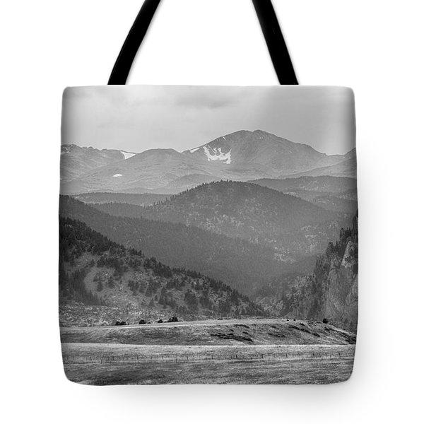 Eldorado Canyon And Continental Divide Above Bw Tote Bag by James BO  Insogna