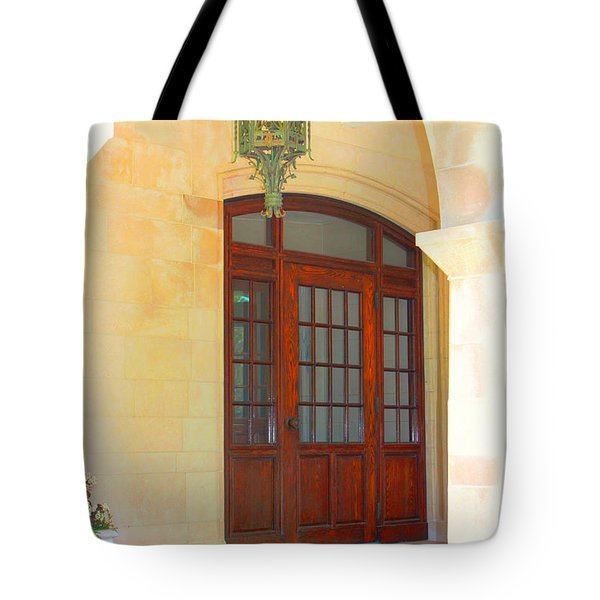 Tote Bag featuring the photograph  Elegant Arched Entrance by Judy Palkimas