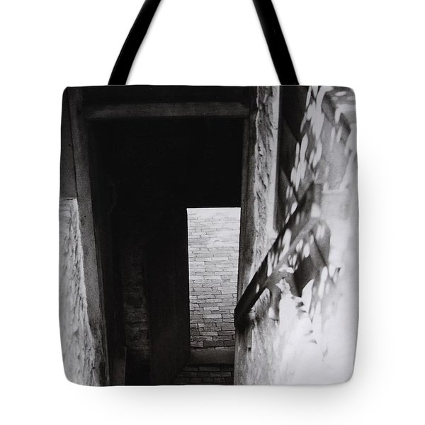 Tote Bag featuring the photograph  Ephrata Cloisters Stairway by Jacqueline M Lewis