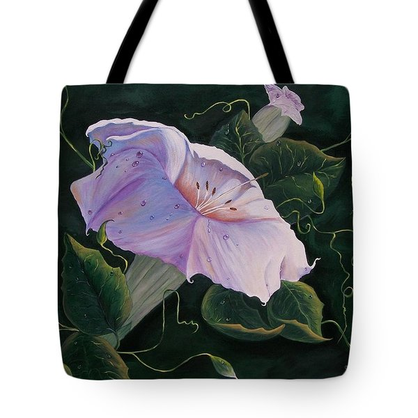 First  Trumpet Flower  Of Summer Tote Bag