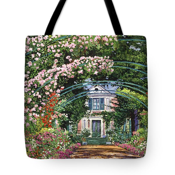 Flowering Arbor Giverny Tote Bag by David Lloyd Glover