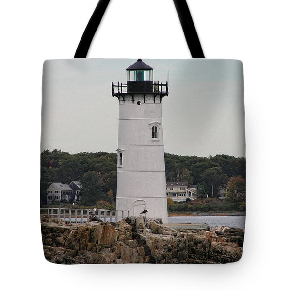 Fort Constitution Light Tote Bag by Denyse Duhaime