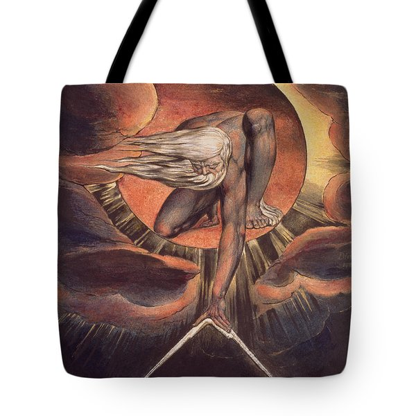 Frontispiece From 'europe. A Prophecy' Tote Bag by William Blake