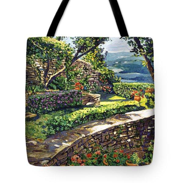 Garden Stairway Tote Bag