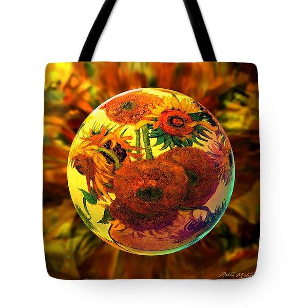 Van Globing Inflorescence Tote Bag