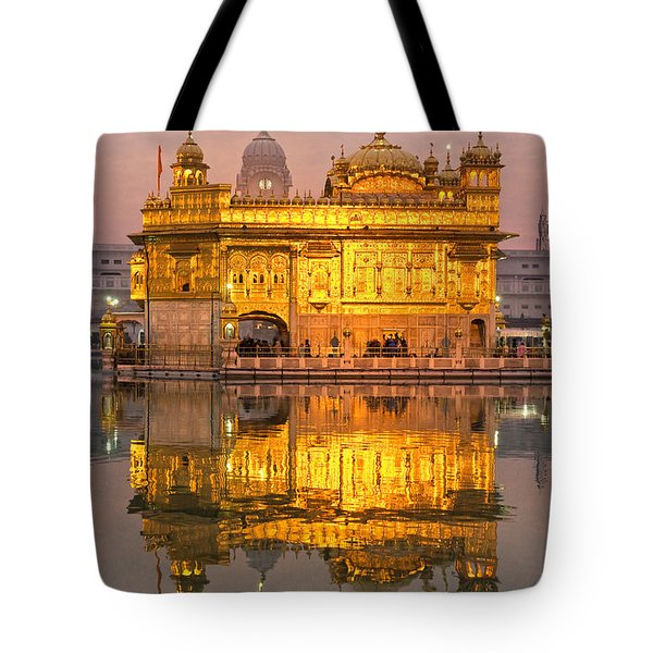 Golden Temple In Amritsar - Punjab - India Tote Bag