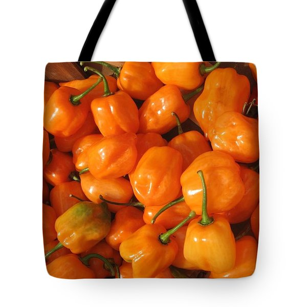 Habanero Peppers Tote Bag