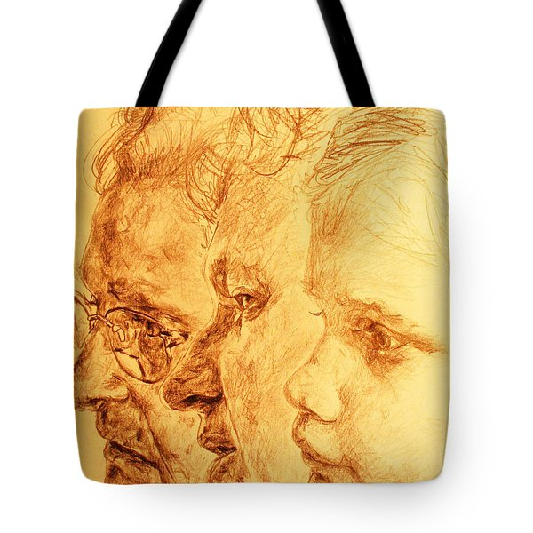 Have Your 3 Generations Drawn Or Painted Tote Bag by PainterArtistFINs Husband MAESTRO