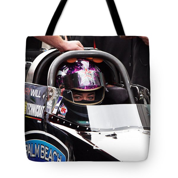 Hillary Will Las Vegas Motor Speed Way Strip Nhra Finals 2008 Tote Bag by Gunter Nezhoda