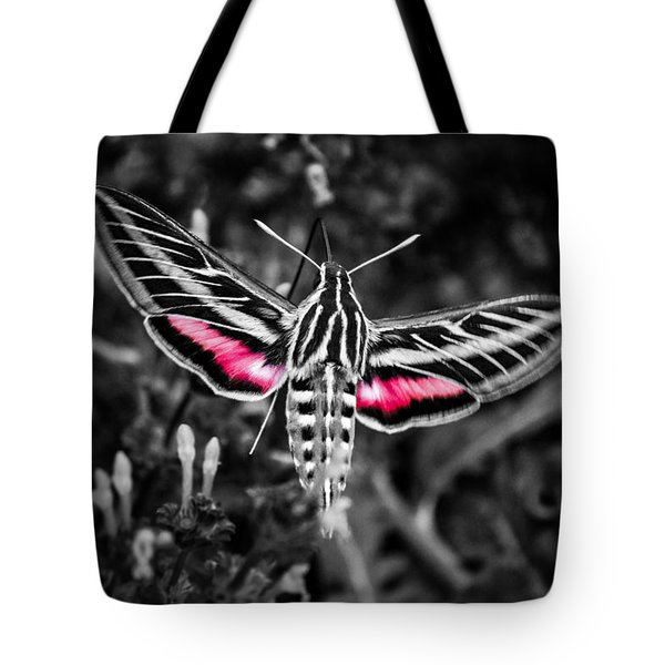 Hummingbird Moth Bw Print Tote Bag
