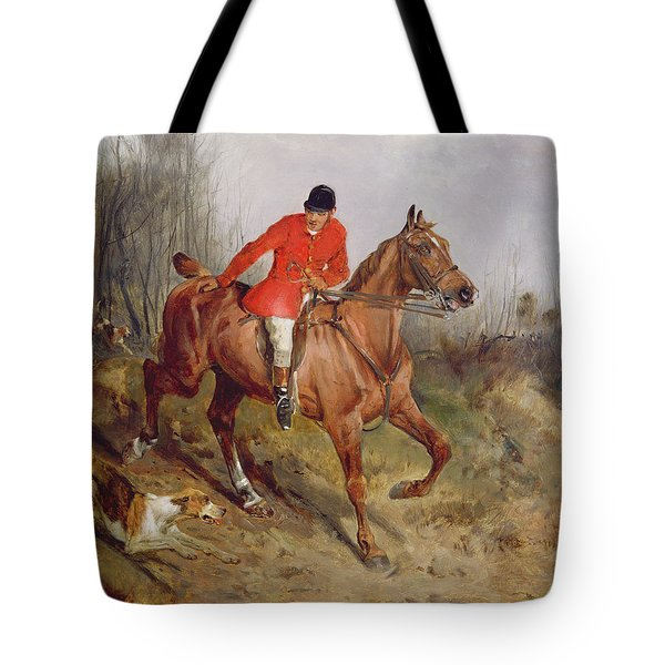 Hunting Scene Tote Bag by John Alfred  Wheeler
