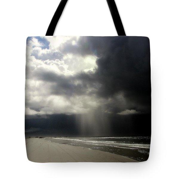 Hurricane Glimpse Tote Bag by Karen Wiles
