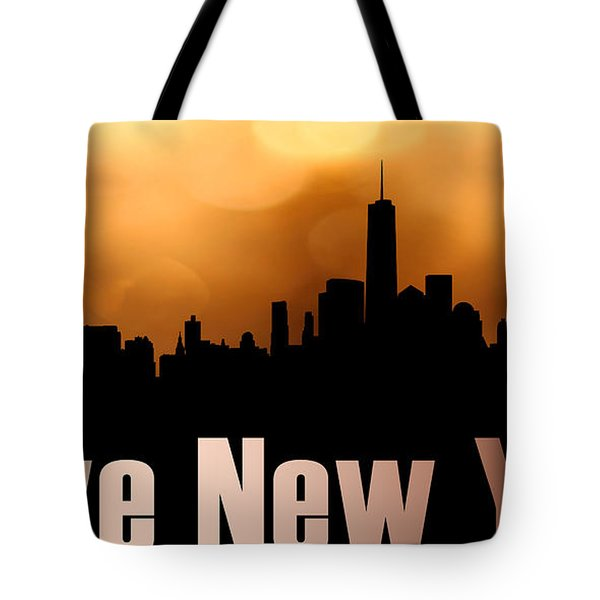 I Love New York Tote Bag by Tommytechno Sweden