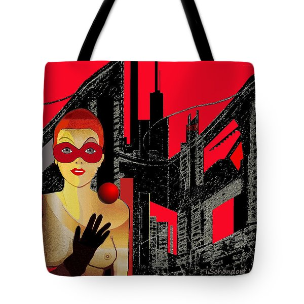 014 - In  Red   City Darkness Tote Bag
