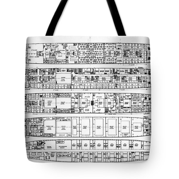 Inquiry In The Loss Of The Titanic Cross Sections Of The Ship  Tote Bag by English School