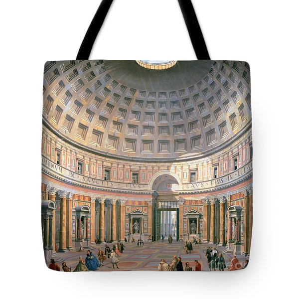 Interior Of The Pantheon Tote Bag by Panini