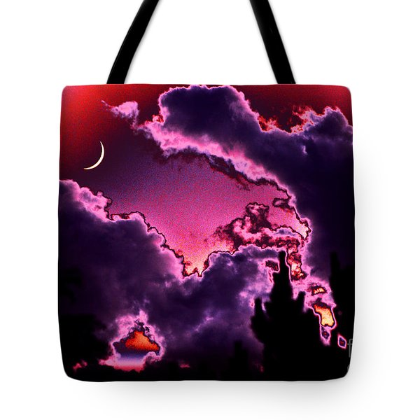Tote Bag featuring the photograph  June Moon by Susanne Still