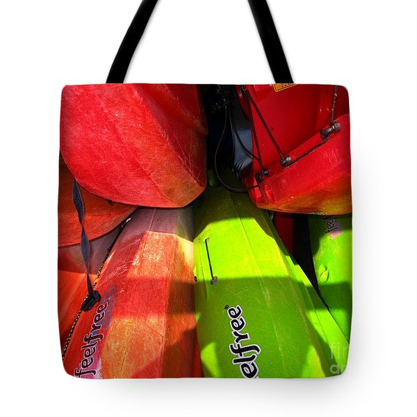 Kayaks Tote Bag by Michelle Meenawong