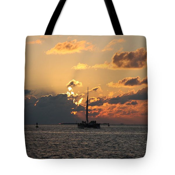 Tote Bag featuring the photograph Marelous Key West Sunset by Christiane Schulze Art And Photography