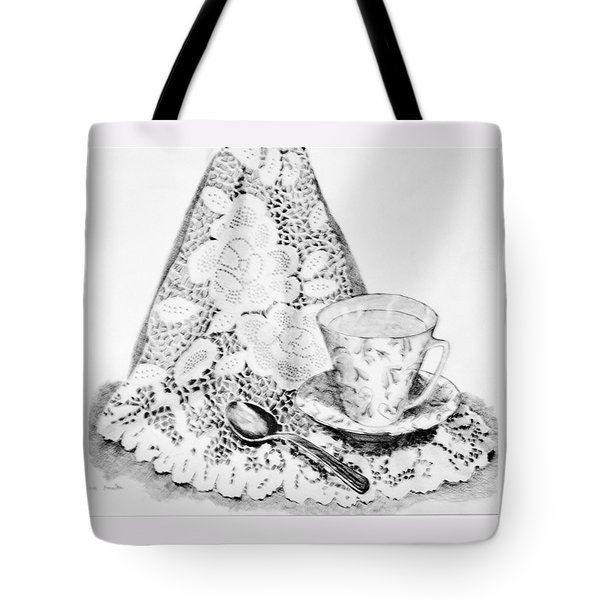 Lace With Cup Tote Bag