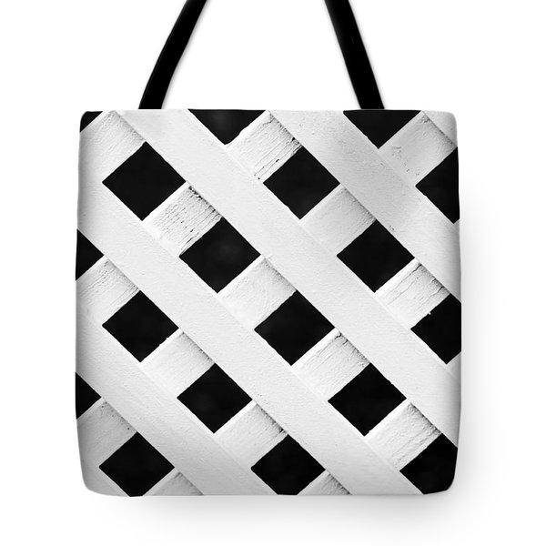 Lattice Fence Pattern Tote Bag