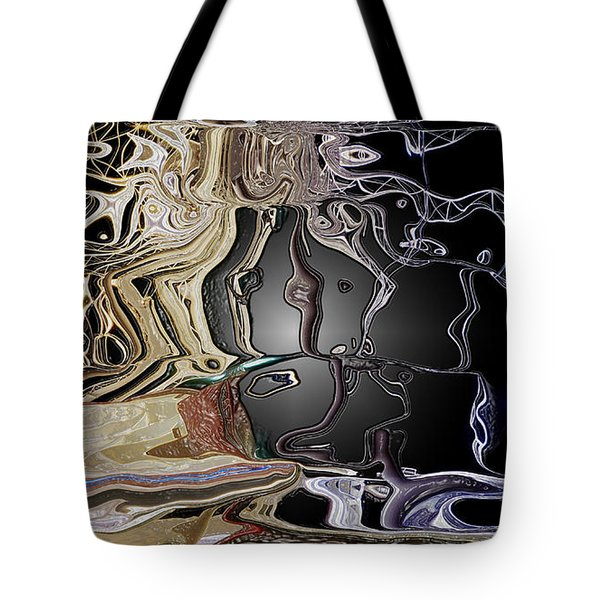 Tote Bag featuring the photograph  Liquid Metal by Pennie  McCracken
