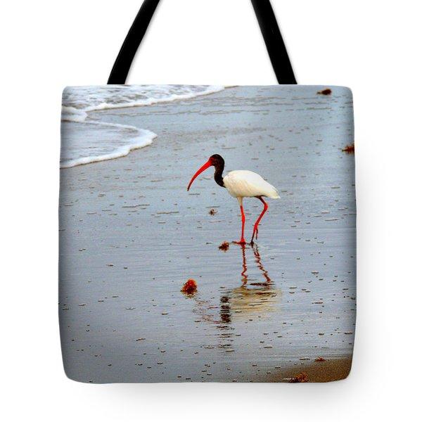 Lone Ibis Tote Bag