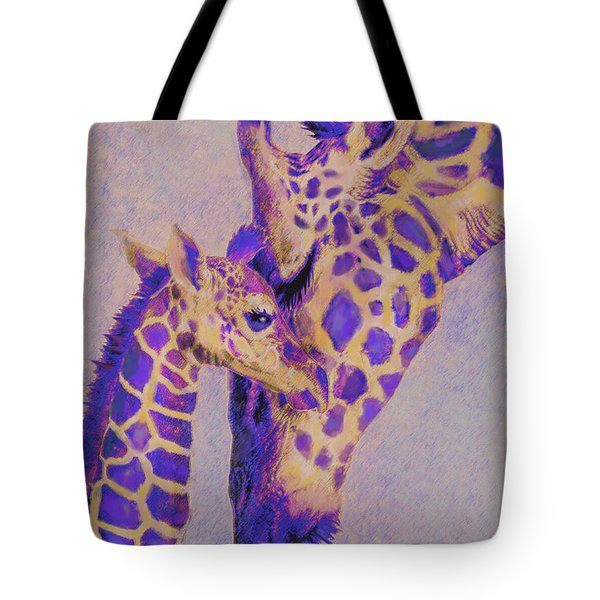 Loving Purple Giraffes Tote Bag
