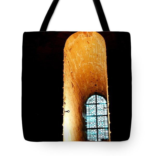Tote Bag featuring the photograph  Meditation - Deep Window Mont St Michel by Jacqueline M Lewis