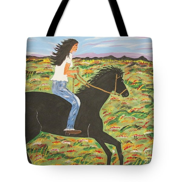 Morning Bareback Ride Tote Bag