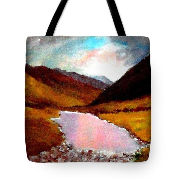 Mountain Landscape Tote Bag by Mauro Beniamino Muggianu