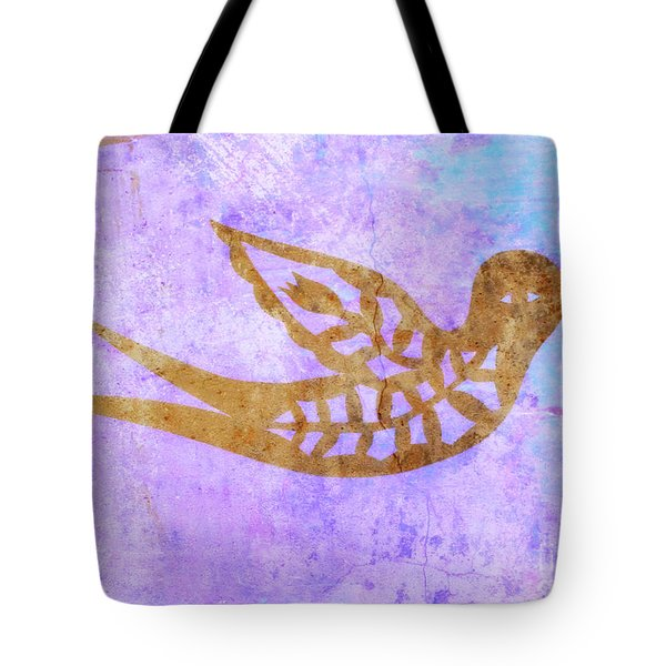 Tote Bag featuring the painting  New Free Bird by Mindy Bench