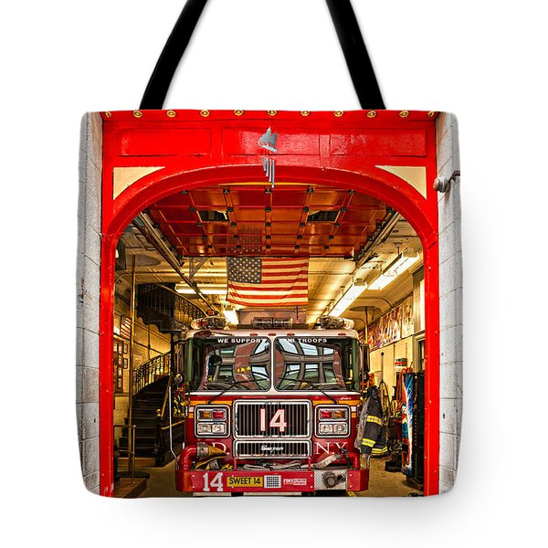 New York Fire Department Engine 14 Tote Bag