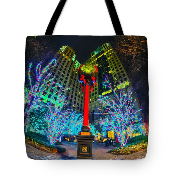 Nightlife Around Charlotte During Christmas Tote Bag