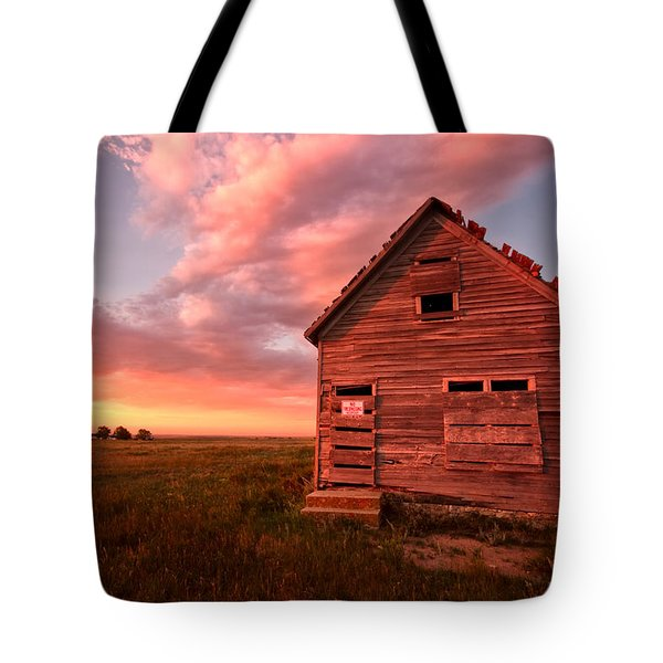 Tote Bag featuring the photograph  No Trespassing by Ronda Kimbrow