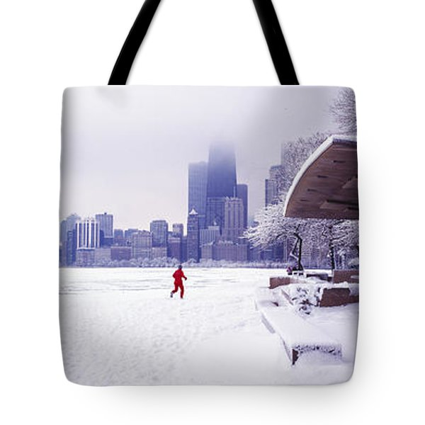 North Ave Beach Chess Palv Chicago Lake Front  Tote Bag