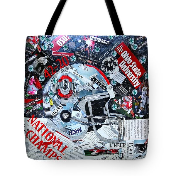 Ohio State University National Football Champs Tote Bag by Colleen Taylor