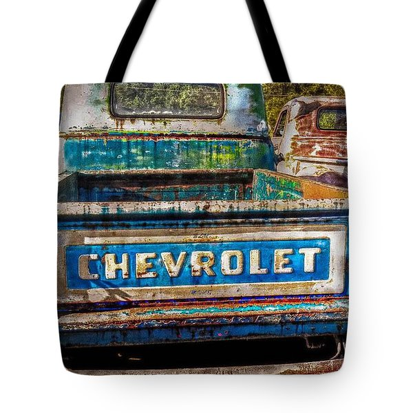 Old Chevy Trucks Tote Bag