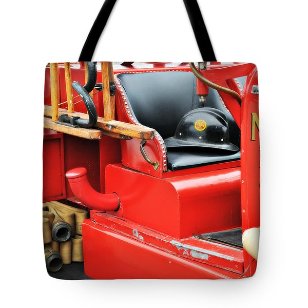 Old Faithful Fire Truck Tote Bag